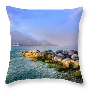 Lago Di Garda. Stones Throw Pillow
