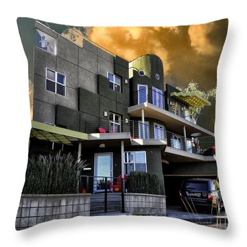 Lagoon House Throw Pillow by Bob Winberry