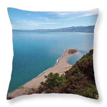 Lagoon Of Tindari On The Isle Of Sicily  Throw Pillow