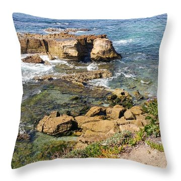 Laguna Beach California Throw Pillow