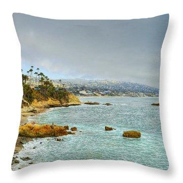 Laguna Beach Coastline Throw Pillow by Glenn McCarthy Art and Photography