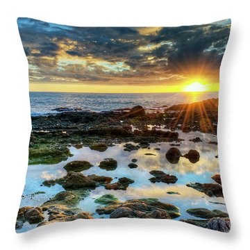 Laguna Beach Tidepools Throw Pillow