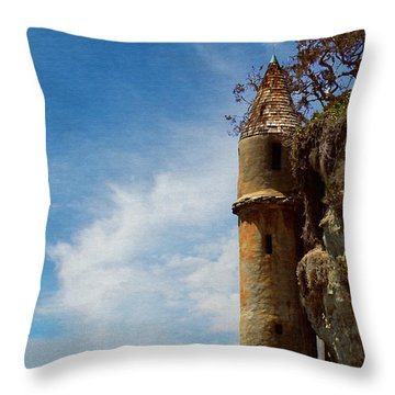 Throw Pillow featuring the photograph Laguna Beach Tower by Glenn McCarthy Art and Photography