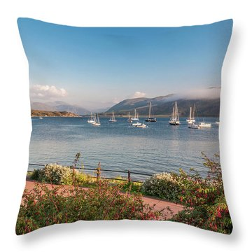 Gulf Of  Ullapool  - Photo Throw Pillow by Sergey Simanovsky