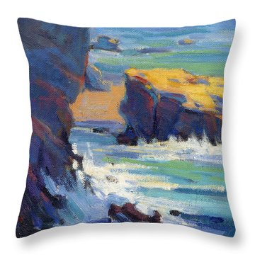 Laguna Rocks Throw Pillow