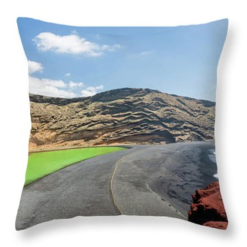 Throw Pillow featuring the photograph Laguna Verde by Delphimages Photo Creations