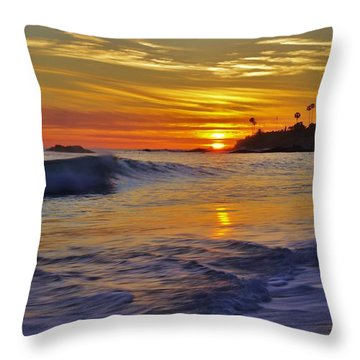 Laguna's Last Light Throw Pillow by Matt Helm
