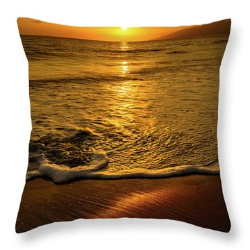 Lahaina Glow Throw Pillow