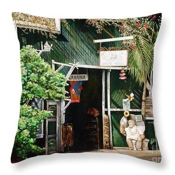 Lahaina Hoolealea Throw Pillow by Sandra Blazel - Printscapes