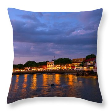 Lahaina Roadstead Throw Pillow by James Roemmling