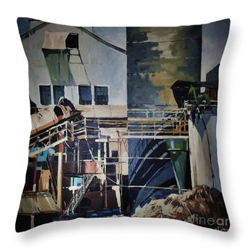 Lahaina Sugar Mill Throw Pillow