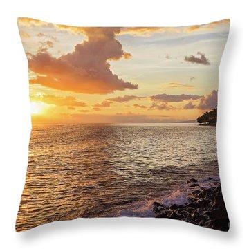 Lahaina Sunset Throw Pillow