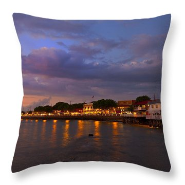Lahaina Twilight Throw Pillow by James Roemmling