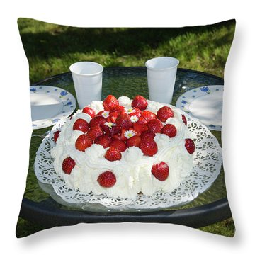 Throw Pillow featuring the photograph Laid Summer Table by Kennerth and Birgitta Kullman