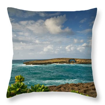La'ie Point Sea Arch Throw Pillow