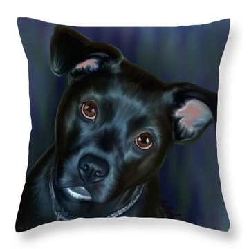 Laila In Blue Throw Pillow