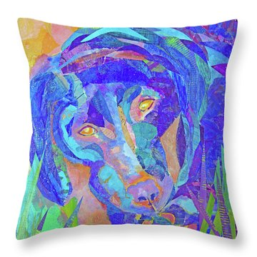 Laila The Lab Throw Pillow