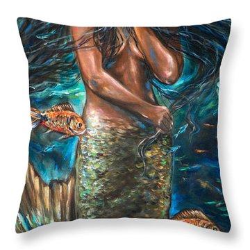 Lailani Mermaid Throw Pillow