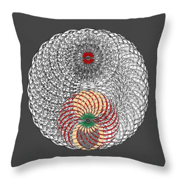 Lair Of Spider Without Background Throw Pillow