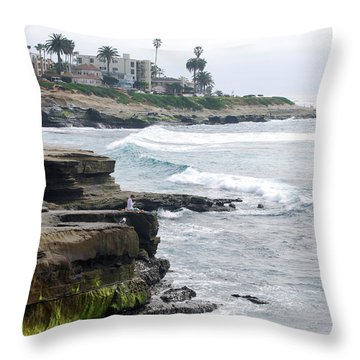 Lajolla Throw Pillow by Bill Dutting