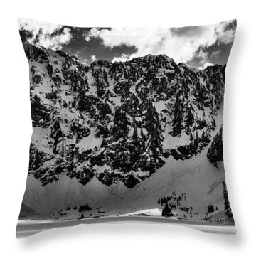 Lake 22 Winter Black And White Throw Pillow