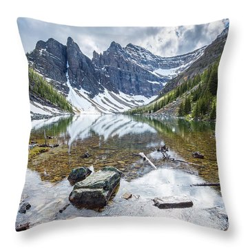 Lake Agnes Throw Pillow