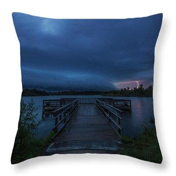 Lake Alvin Shelf  Throw Pillow