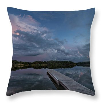 Lake Alvin Supercell Throw Pillow