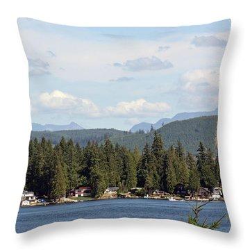Lake And Mountains Throw Pillow