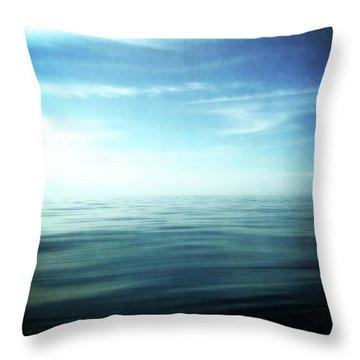 Lake And Sky Throw Pillow