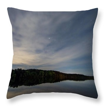 Lake At Night Throw Pillow