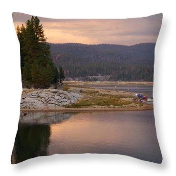 Lake At Twilight Throw Pillow