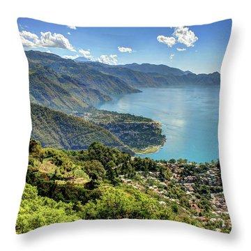 Lake Atitlan Throw Pillow by John Loreaux