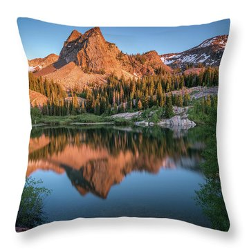Lake Blanche At Sunset Throw Pillow