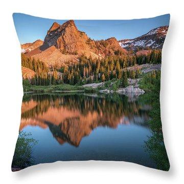 Lake Blanche At Sunset Throw Pillow