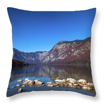 Lake Bohinj Throw Pillow