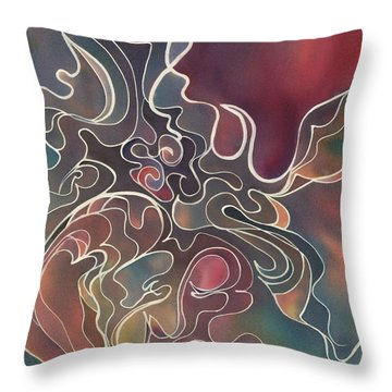 Lake Bottom II Throw Pillow