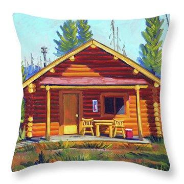 Lake Cabin Throw Pillow