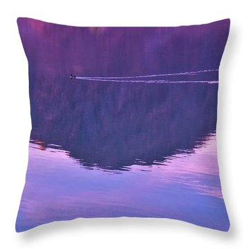 Lake Cahuilla Reflection Throw Pillow by Michele Penner