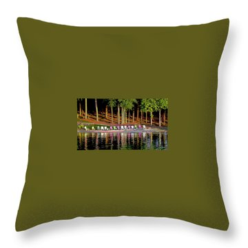 Lake Chairs Throw Pillow
