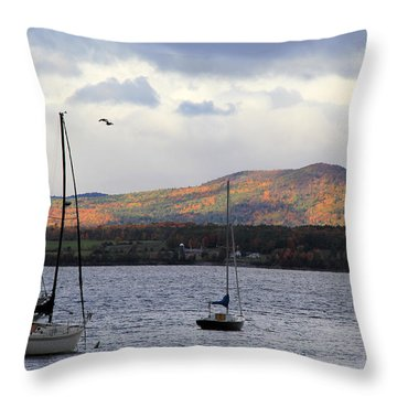 Lake Champlain Throw Pillow