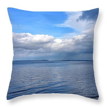 Throw Pillow featuring the photograph Lake Champlain From New York by Brendan Reals