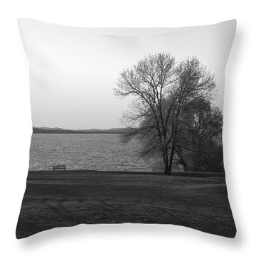 Lake Champlain Throw Pillow by Henri Irizarri