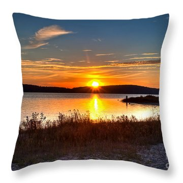 Lake Charlevoix Sunset Throw Pillow