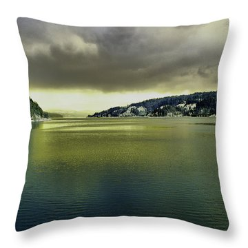 Throw Pillow featuring the photograph Lake Coeur D' Alene by Jeff Swan