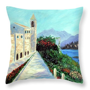 Lake Como Colors  Throw Pillow