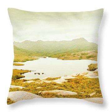 Lake Cumberland, Western Tasmania Throw Pillow