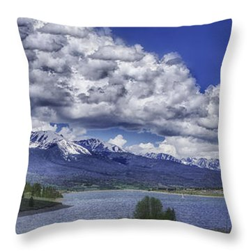 Throw Pillow featuring the photograph Lake Dillon by Bitter Buffalo Photography