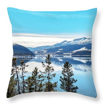 Lake Dillon Colorado Throw Pillow