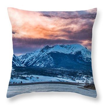 Throw Pillow featuring the photograph Lake Dillon by Sebastian Musial
